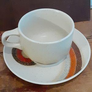 Vintage Mikasa Indian Feast rising sun cup saucer